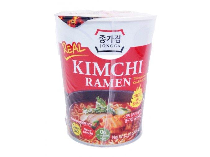 Jongga Kimchi Cup Ramen Soup 85g s prošlým datumem min. trvanlivosti