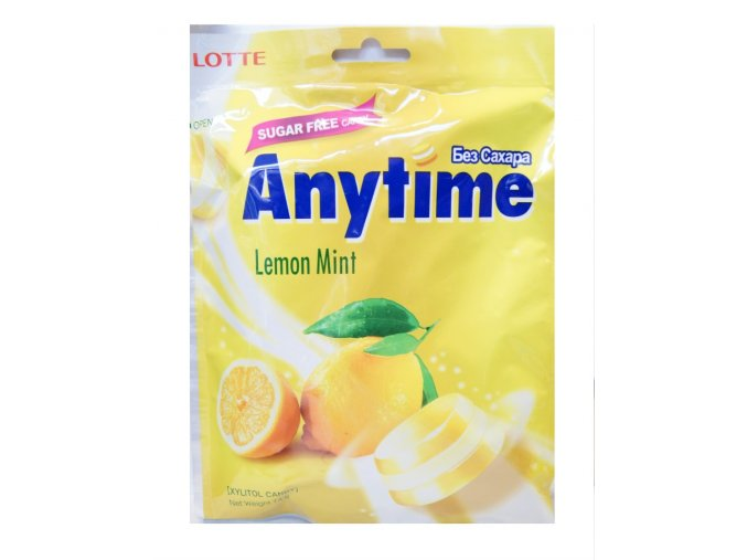 Lotte Xylitol Anytime Lemon Mint 74g