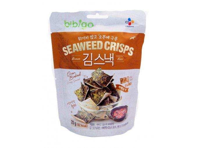 Bibigo Seaweed Crisps BBQ Flavor 20g