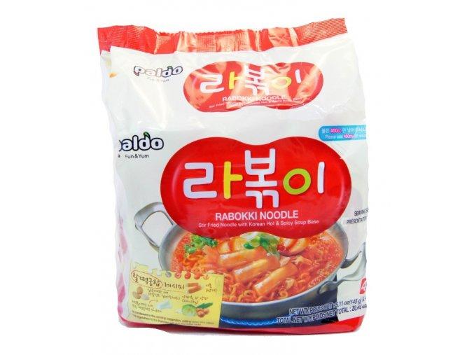 Paldo Rabokki Noodle Hot&Spicy soup base 4p