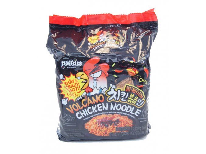 Paldo Volcano Chicken Noodle crazy hot 4p