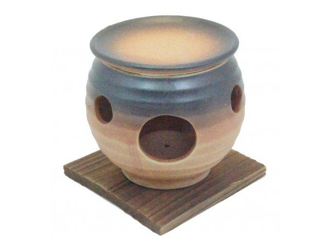 Keramický opařovač vonných olejů (hnědý)