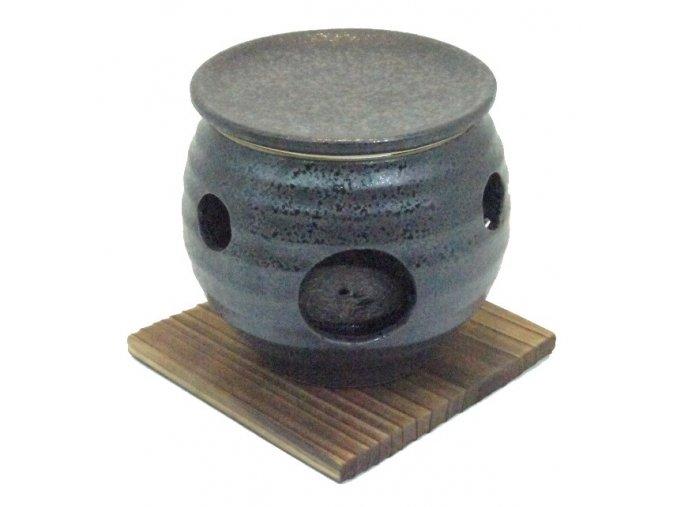 Keramický opařovač vonných olejů (černý)
