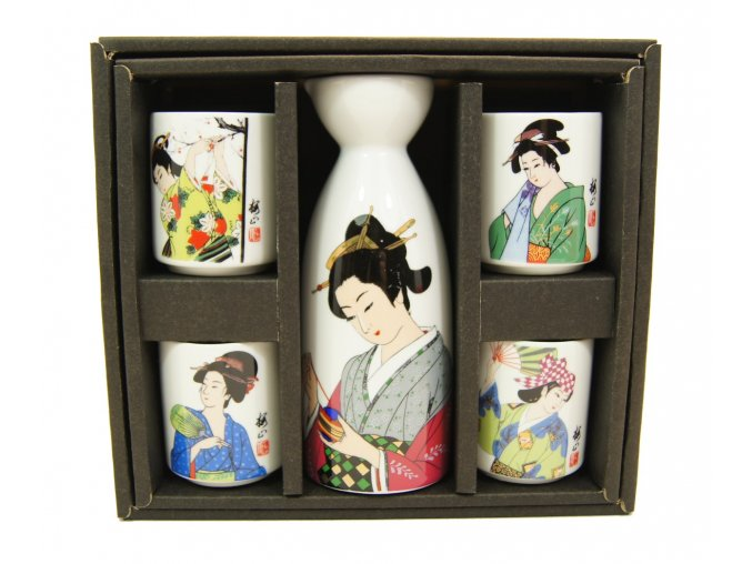 Fuji Sake set ( geisha )