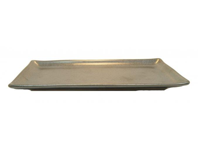 Talířek na servírování sushi černý 28x12cm