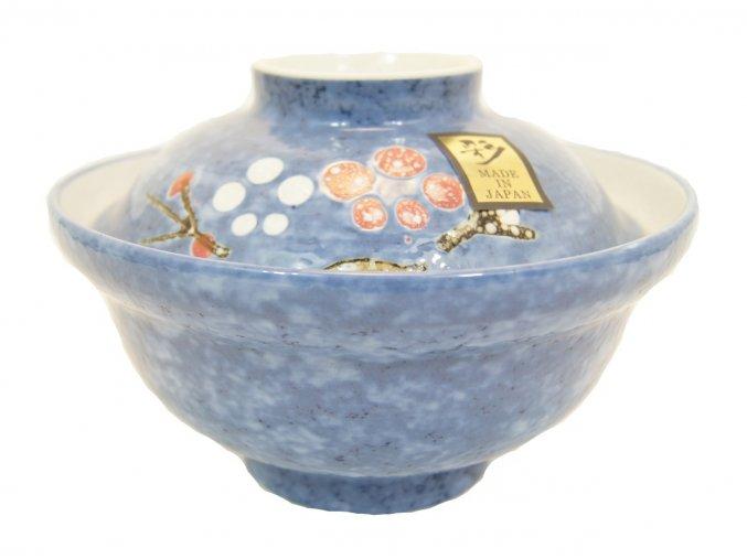 Keramická nádoba s pokličkou ( modrá )