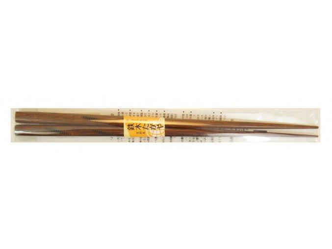 Dřevěné hůlky tmavě hnědé