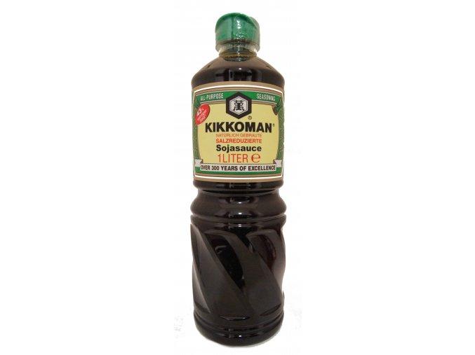 Kikkoman sójová omáčka s nižším obsahem soli 1 L