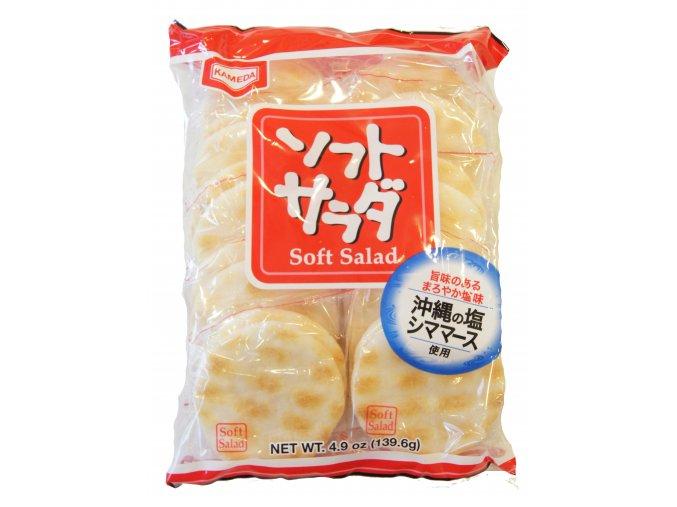 Kameda Soft Salad rýžové krekry 139,6g