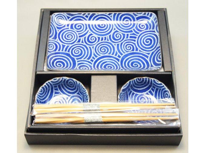 Tokyo Set na sushi se vzory tmavě modrý ( 14347 )