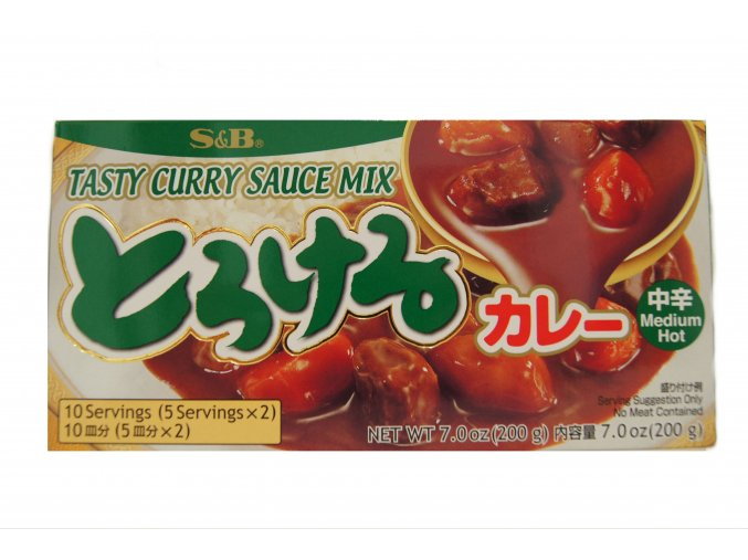 S&B Torokeru Curry Medium Hot 200g