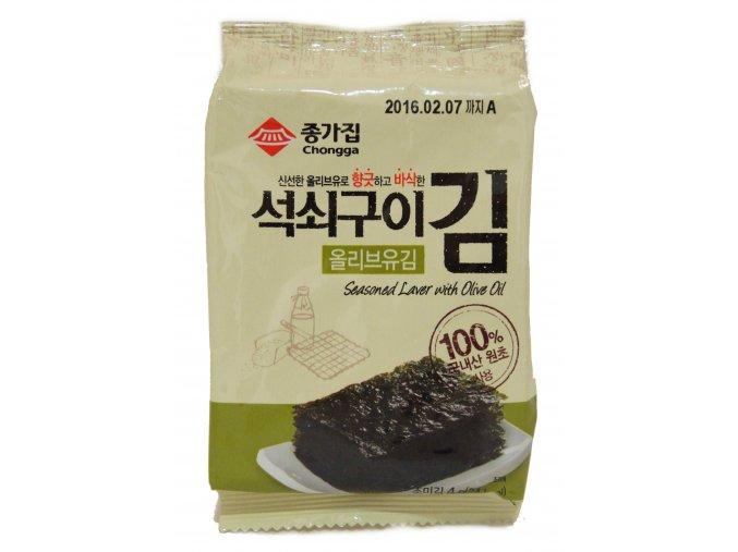 Chongga Traditional Laver Olive Oil pražené mořské řasy 5g