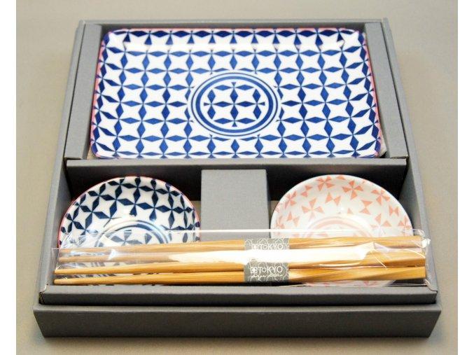 Tokyo Set na sushi růžova, tmavě modrá a bílá  ( 14198 )