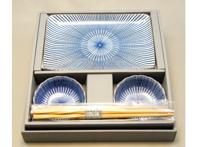 Tokyo Set na sushi modro bílí se vzorem ( 14350 )