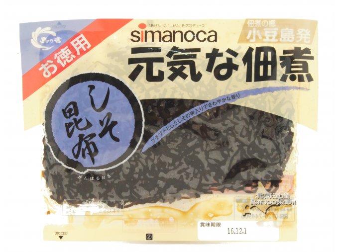 Shimanoka Genki na Tsukudani Shiso Kombu uvařené řasy 100g