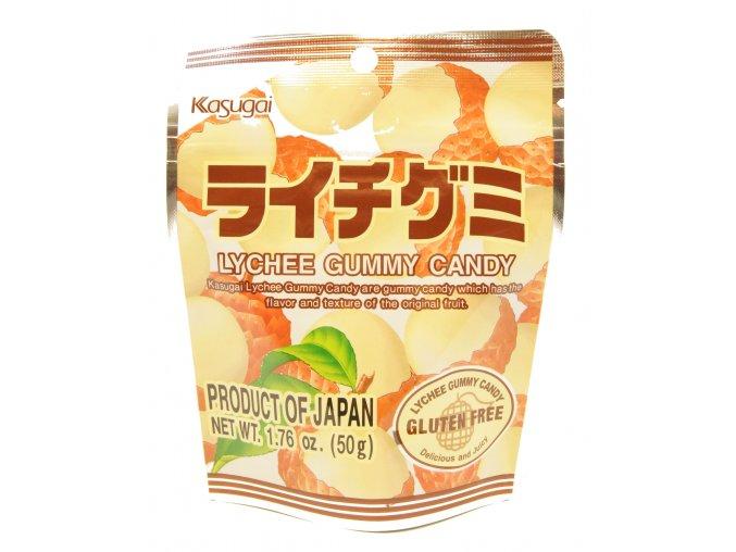 Kasugai Lychee Gummy japonské bonbony 50g