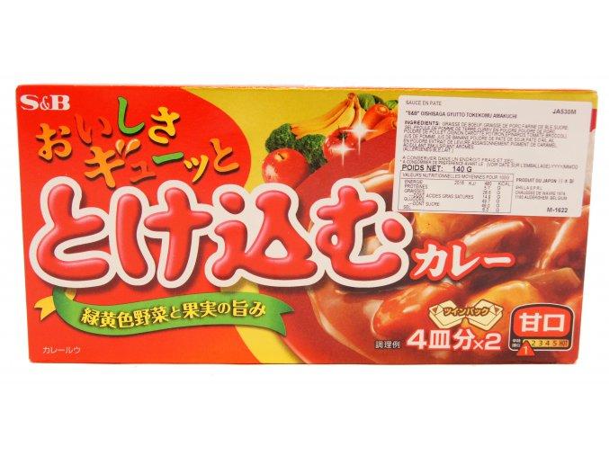 Tokekomu Curry Amakuchi japonské kari 140g