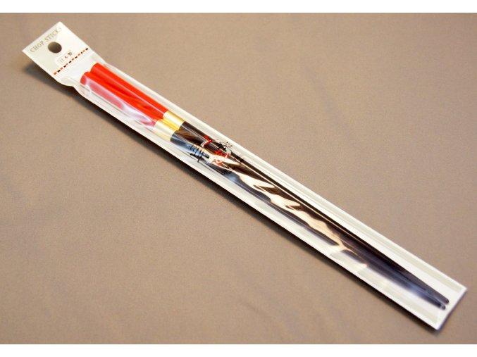 Chop Sticks černo červené se zlatým proužkem