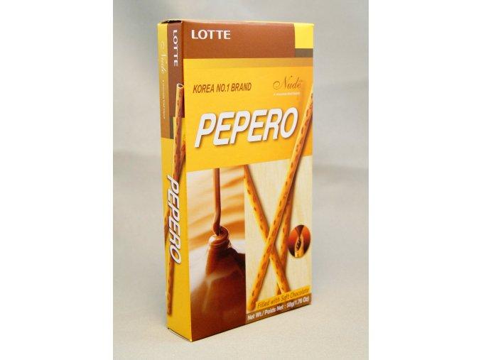 Lotte Pepero Nude čokoládové tyčinky 50 g