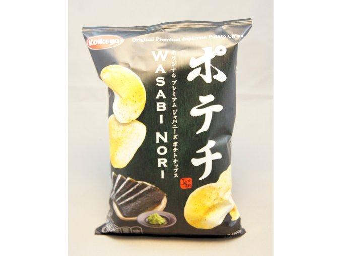 Koikeya Wasabi Nori Chips 100g