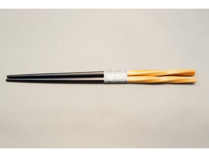 Tokyo hůlky bambus a půlka černý lak ( 8218 )