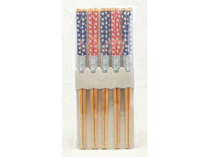 Tokyo set bambusových hůlek se vzory kvítků ( 4026 )