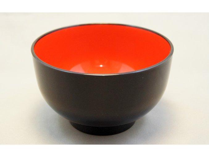 Tradiční Japonská miska černo červená