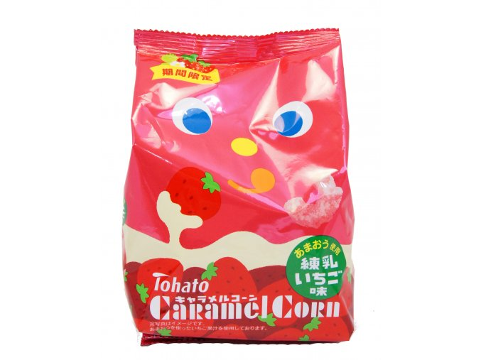 Tohato Caramel Corn Strawberry