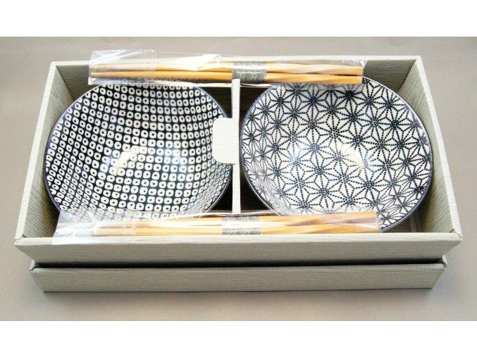 Tokyo set dvou misek bílo černé se vzory ( 16071 )