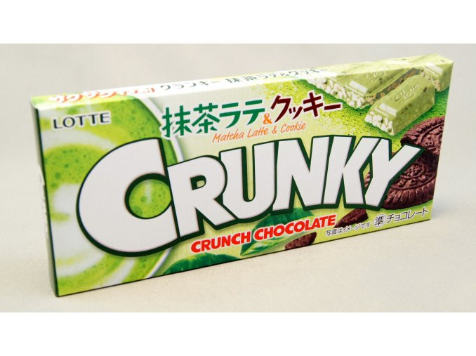 Lotte Matcha Latte and Cookie Crunky