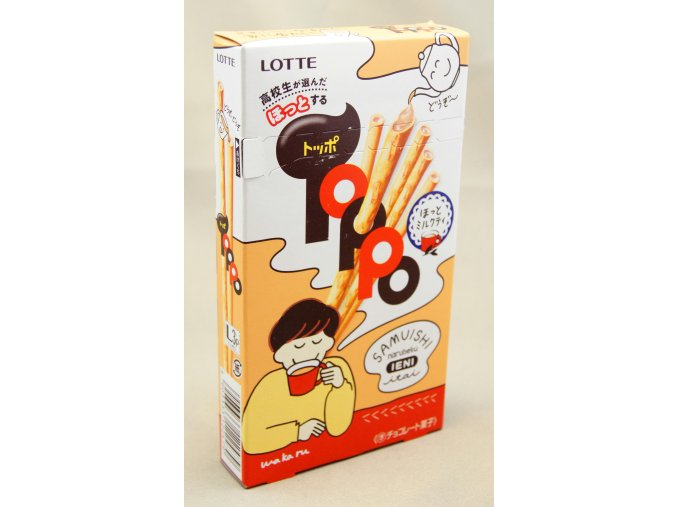 Lotte Toppo Hot Milk Tea