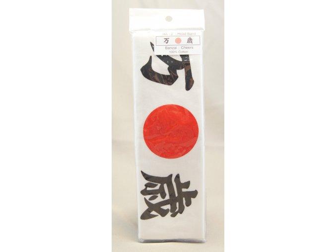 Čelenka s japonským nápisem BANZAI