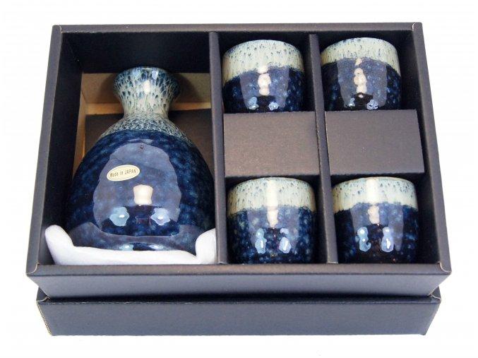 Fuji keramický set na Sake (modrý)
