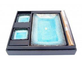 Sushi set pro dvě osoby tyrkysovo černý ( FS2/B )