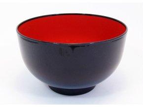 Plastová miska černo červená velká ( K308-1 )