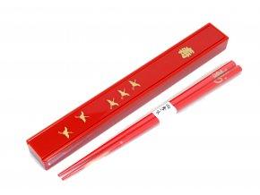 Fuji Hůlky s pouzdrem červené