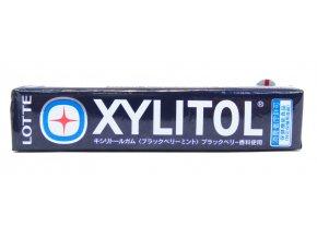 Lotte Xylitol Black Berry Mint 14p