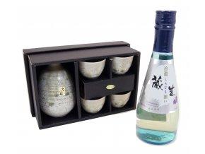 Sake Vánoční Set zelený s rýžovým vínem Kuranama 300 ml