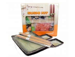 Sushi Dárkový set černozelený s balíčkem na přípravu Sushi