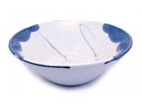 Mísa na rámen bílo modrá