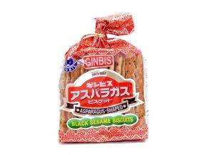 Ginbis Asparagus Black Sesame Biscuits 135g