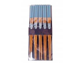 Sada dřevěných hůlek lakované ( tyrkysové )