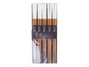 Sada dřevěných hůlek lakované ( bílé )