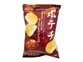 Koikeya Sweet & Sour Umeboshi Potato Chips 100g