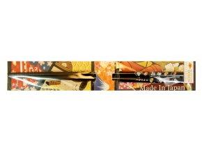 Nippon Desing hůlky černé s motivem sushi