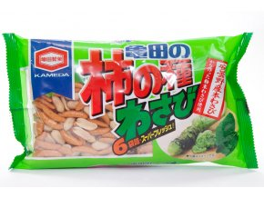 Kameda Kaki no Tane Wasabi rýžové krekry 182g