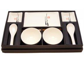 Set na sushi pro dvě osoby + dvě misky na polévku ( BH11-WR )