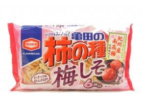 Kameda Kaki no Tane Umeshiso rýžové krekry 210g