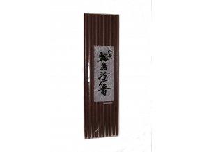 Sada lakovaných dřevěných hůlek bez vzoru  barva tmavá cihla 10párů (WJ10/M)