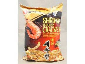 Nong Shim Shrimp Cracker Hot krevetové chipsy 75g